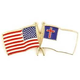 Amerian and Christian flags